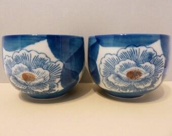 Saki / Rice Bowls, Set of 4. By: Shaddy Arita China, JGI
