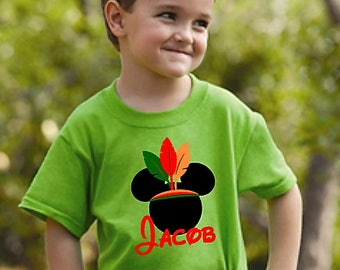 Disney Thanksgiving Shirt ~ Mickey Mouse Indian Shirt ~ Kid's Disney Shirt