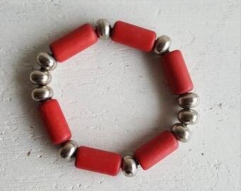 "Finnish Aarikka Vintage Wooden bracelet ""Anniina"" Made in 80s"