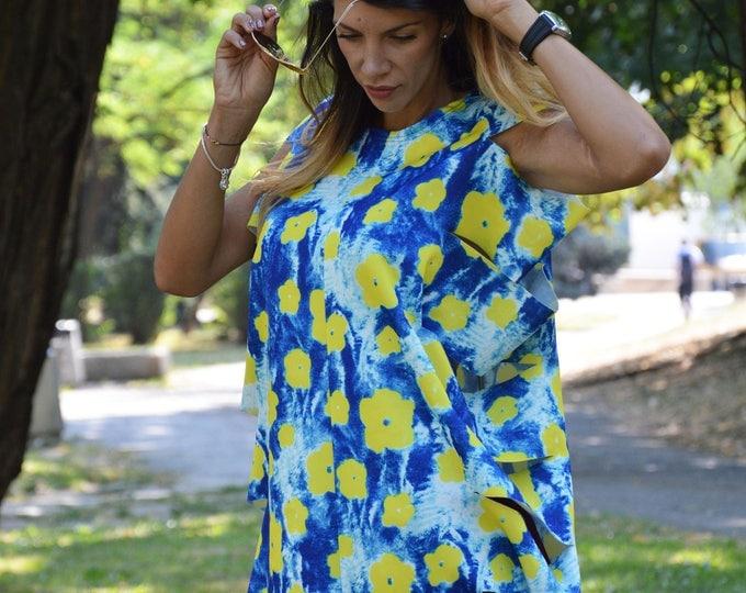 Oversize Elegant Neoprene Top, Extravagant Maxi Tunic, Asymmetric Loose Dress, Neoprene Tunic Top by SSDfashion