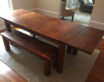 Early American Farm Table with Extensions
