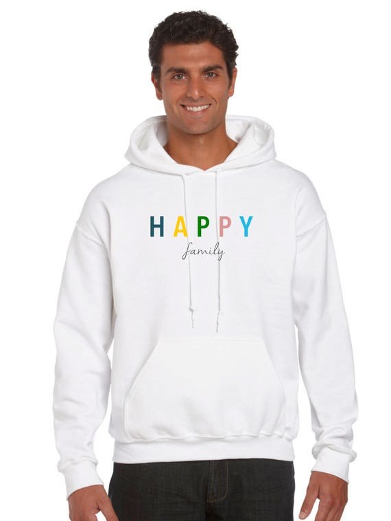 Men hoodie HAPPY FAMILY