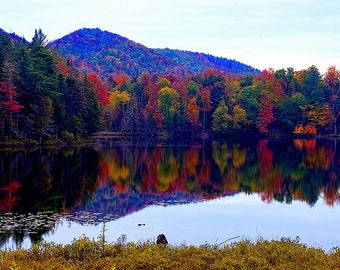 Autumn Landscape Print, Adirondack Mountains, Autumn Print, Autumn Photography, Autumn Art, Adirondack Fine Art, Nature Photography