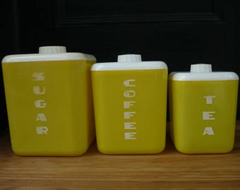 Sugar, Coffee, and Tea Canisters