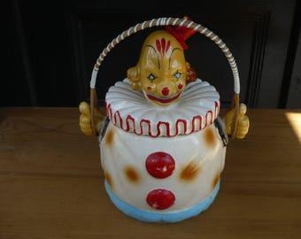Clown Cookie Jar , Biscuit Jar