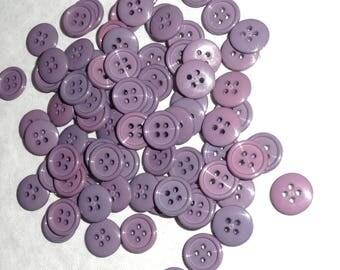 Sets purple buttons 50 buttons