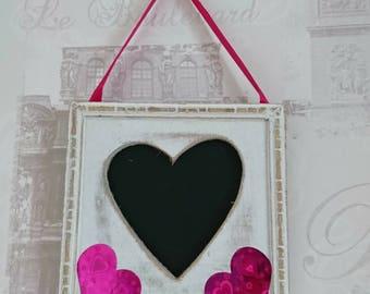 Heart Blackboard Wall Hanging