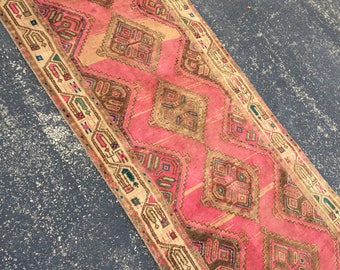 Persian Heriz Vintage Runner Rug 2.10 x 8.4