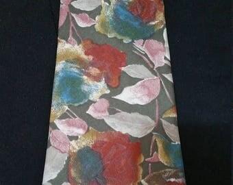 End of Summer Italian Silk Necktie in Handsome Floral Pattern