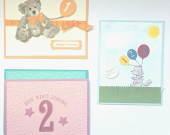 Children's Birthday Card- 1st, 2nd, and 3rd