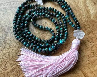 Turquoise and Rose Quartz Double Mala