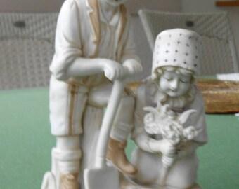 Porcelain figurine Around 1900, biscuit porcelain