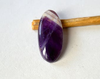 Amethyst Lace Agate Cabochon 35.5 Cts Natural Superb Purple Gemstone Oval Shape 36x16x7 MM R13917