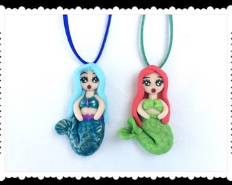 Necklace doll, siren siren, Siren cameo necklace, mermaid doll, doll, Little Mermaid, Little Mermaid, summer, personalized gift