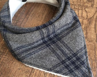 plaid baby bib flannel baby bib flannel bandana bib Neutral Bandana Bib-plaid Drool Bib-plaid bandana bib-boy bandana bib-plaid baby gift