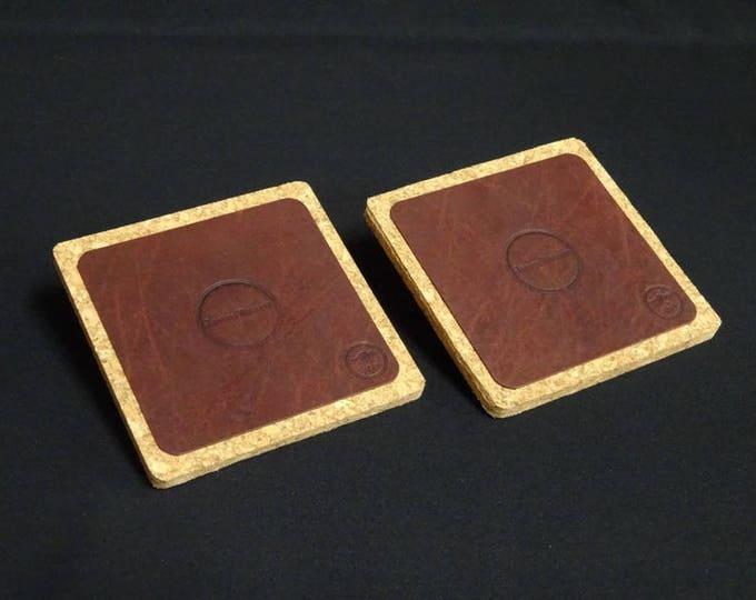 James Coaster - Set of 2 - Handmade using genuine kangaroo leather