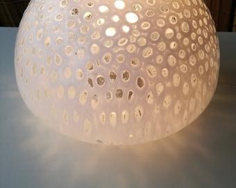 Murano mushroom lamp opaline glass space age murrina Made in Italy 1960s