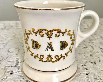 Vintage Shaving Mug, ceramic shaving mug, vintage dad shaving mug, Father's Day shaving mug, barbershop mug
