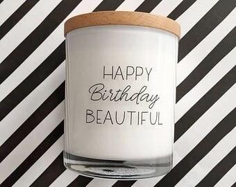 Happy Birthday Beautiful Candle - LARGE