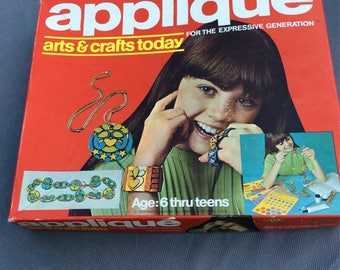 Hasbro Applique Set 70s Arts & Crafts Today for the Expressive Generation 1972 NOS