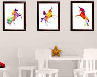 Wall Art, Unicorn Art Prints, Unicorn print art, unicorn wall art, unicorn wall print, unicorn room decor, unicorn art print