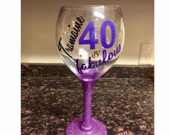 Custom Wine Glass standard size