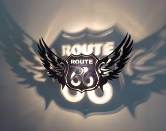 Applique black Route 66 shadows