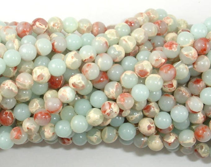 Impression Jasper, 4mm(4.5mm) Round Beads, 15.5 Inch, Full strand, Approx 95 beads, Hole 0.8mm (281054032)