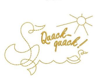 Incredible SALE!!! One line design Ducks. Machine Embroidery Design.