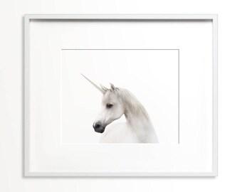 Unicorn print, PRINTABLE art, Girls room decor, Nursery decor, Animal print, Horse print, Unicorn art, Unicorn decor, Unicorn poster, Large