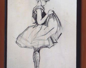 Edgar Degas, Ballerina.FREE SHIPPING