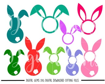 Easter Bunny Rabbit svg / dxf / eps / png files. Digital download. Compatible with Cricut and Silhouette machines. Small commercial use ok.