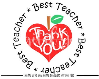Best teacher svg / dxf / eps / png files. Digital download. Compatible with Cricut and Silhouette machines. Small commercial use ok