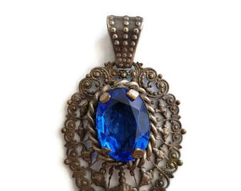 antique french pendant, edwardian pendant, 1900's pendant, ornate jewelry