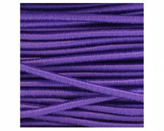 2, 5mm purple elastic round cord