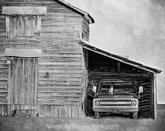 Rustic Wall Decor, Black and White Photography, Barn Photography, Rustic Barn Photo, Rustic Wall Art, Black and White, Kitchen Wall Art