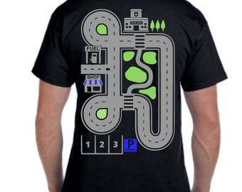 Massage Shirt - Birthday gift for dad - Race car shirt for dad - Race track shirt - Dads Resting Shirt - Grandpa Shirt