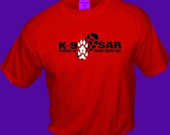 K-9 SAR custom red