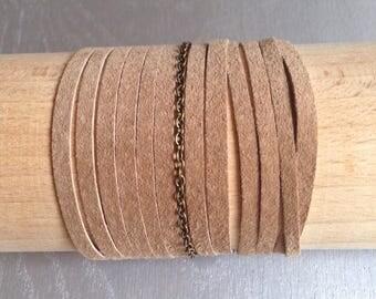 KLEO suede Cuff Bracelet