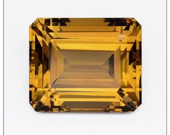 Impressive 23+ Carat Citrine Faceted Octagon Shape Gemstone