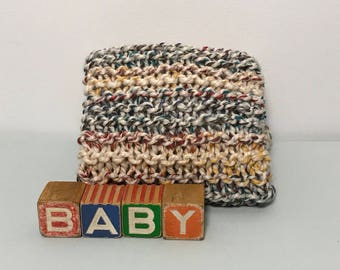 Beautiful Multi-toned Hand-Knit Baby Blanket
