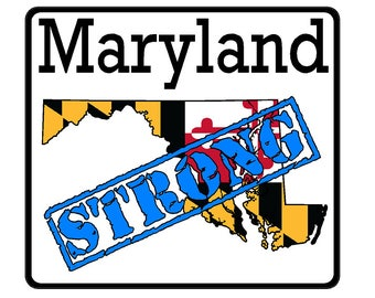 Maryland State (K21) Strong Flag Vinyl Decal Sticker Car/Truck Laptop/Netbook Window
