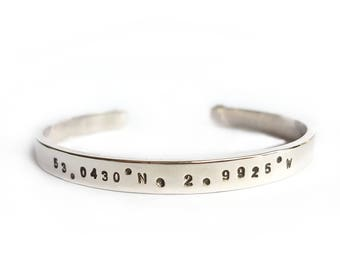 Personalised Silver Heavy Chunky Bangle