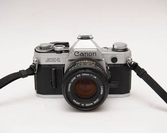 Classic Canon AE-1 Kit with 50mm f1,8 lens