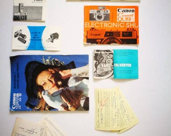 Vintage Assortment of Booklets for Analog Cameras and Accessories 1970s-1980s