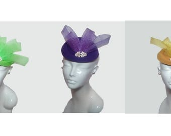 Tea Fascinator Purple, Green, or Gold
