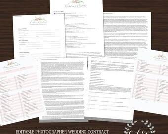 HALF OFF Photographer Wedding Contract Business Files, Photographer Business Template, Wedding Contract, Wedding Checklist