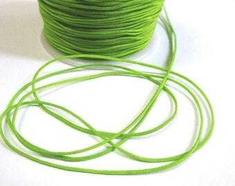 10 m lime green nylon thread woven 1 mm
