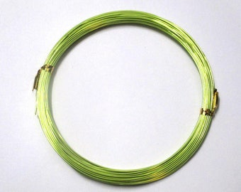 10 m 0.8 mm reel lime green colored aluminum wire