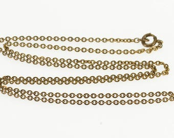"""k 1.6mm Cable Chain Fancy Link Necklace Gold Filled 18"""""""